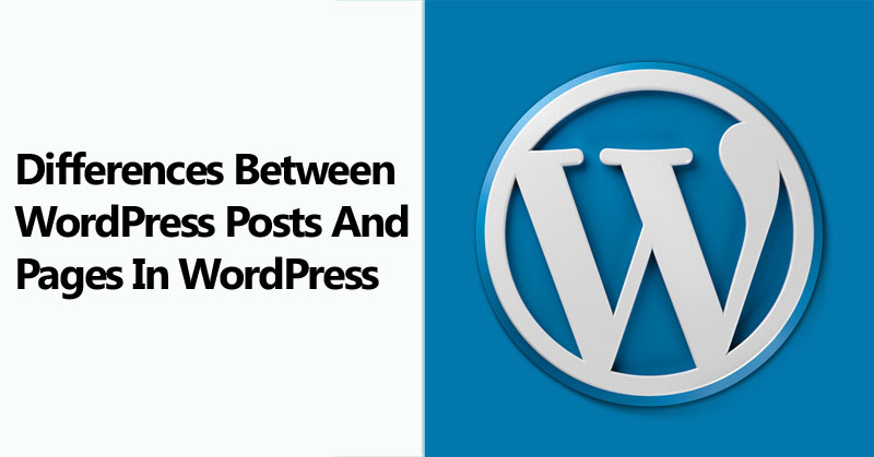 What Are The Differences Between WordPress Posts And Pages In WordPress